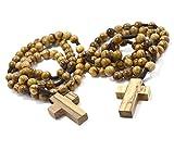 Authentischer Olivenholz Rosenkranz mit 8 MM Rosenkranz für Männer & Frauen - Importiert aus Bethlehem